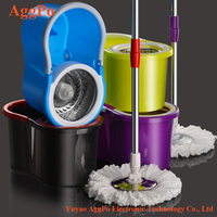 Stainless Steel Deluxe Rolling Spining Mop, Household Clean Mop, Bucket Set Floor Dual-Drive Hand Pressure Cleaning Mop