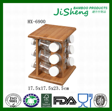 Wholesale 3 Tier 12 Bottle Kitchen Unique Wood Bamboo Spice Rack