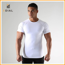 Wholesale Alibaba quick dry 92% polyester 8% spandex burnout gym clothing plain t shirts