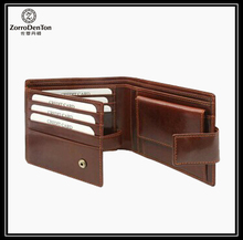 Men's leather wallet/case/money pocket in great construction from Guangzhou Zorrodenton