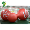Funny Red Decoration PVC Splicing  Inflatable Gourd Shape Ball For Advertising