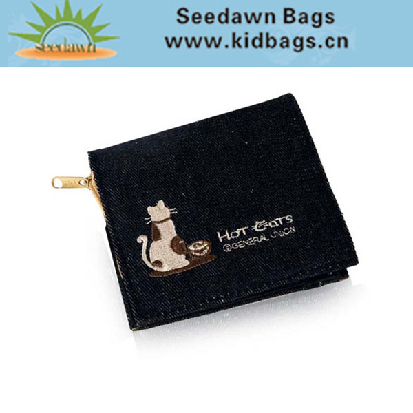 Kids Denim Fabric Coin Wallet for Boys