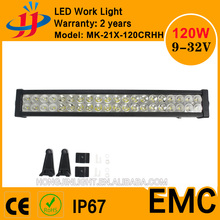 120W 21.5inch epistar chip led light bar car truck boat led 24v