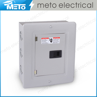 METO 6 way outdoor electrical panel box/distribution box/circuit breaker box/panel board