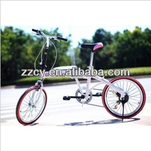 "20"" High Quality Fashion Folding Bike/bicycle with 6 speed"