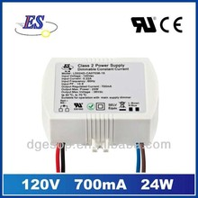 24W 700mA Dimmable LED driver with Triac dimmer (120VAC)