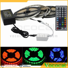 10M 3528 Waterproof SMD RGB 600LEDs Party LED Strip Light Kit Lamp 44Key IR remote EU Plug