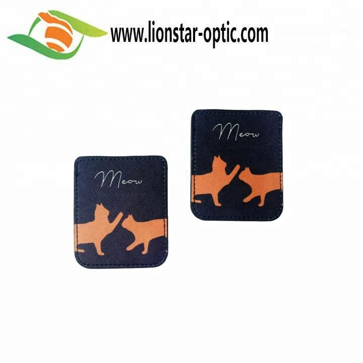 Wholesale Custom Logo Cell Phone Card Holder Phone Wallet Soft Leather Credit Card Holder Wallet