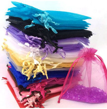 Organza Bags 50pcs 7x9cm 9x12cm Jewelry Gifts Pouches Wedding Party Favor Candy Bags Decoration Birthday Supplies Packaging