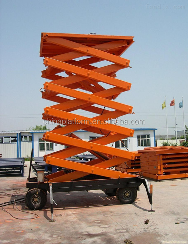 Compact indoor use mobile hydraulic scissor lift