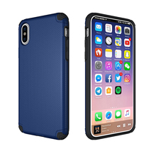 Factory wholesale free sample case for mobile phone holder TPU+PC hybrid / combo shockproof cover case for iPhone X