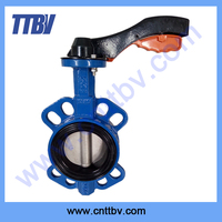Wafer type butterfly valve aluminum lever