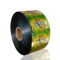 laminated automatic packaging plastic film roll for candy,chips,washing powder