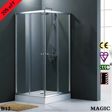 Square style sliding door shower room B12