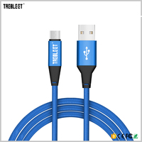 Colored Braided Nylon Aluminum Quick Charging Micro USB Cable for Samsung Android USB Cable