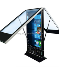 55 inch dual touch screen kiosk with samsung flexible display