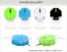 Unique Colorful Best Selling Wired Mouse FTM-T212 Crystal Mouse