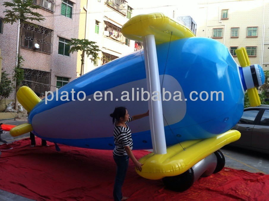 Attractive large remote control inflatable aircraft/large scale model aircraft for advertising