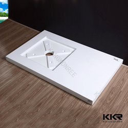 deep custom solid surface stone resin shower tray