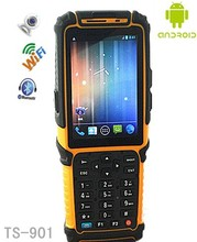 Tousei TS-901 mobile android 4.0 pda barcode scanner with wifi / bluetooth / 3G / GPRS / GPS for warehouse management