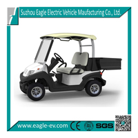 Electric utility golf cart vehicle, rear cargo box