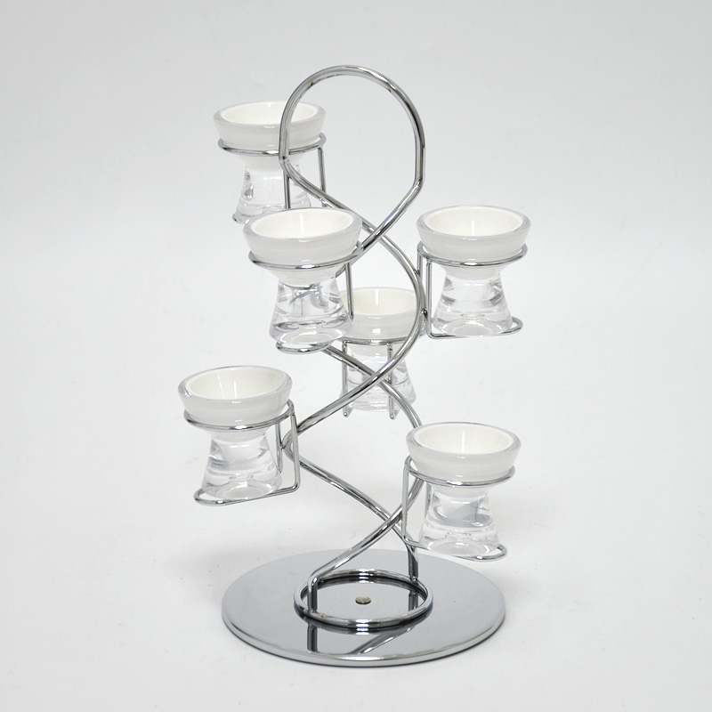 Rotating Display Wire Rack With 6pcs Egg Cup Holder