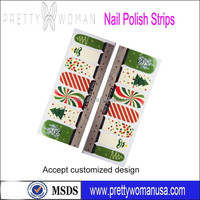 2014 Christmas Nail Polish Strips 14pcs Dry Nail Polish Appliques US and EU Compliant Nail Products