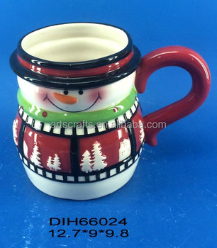 2017 Christmas decorative ceramic snowman coffee mug