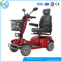 Four wheel Leather seats lithium battery mobility scooter