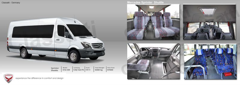 Mercedes Benz Sprinter 516 Minibus, Citybus, Coach, Van , used and new, Midibus, Schoolbus, Shuttle, Transfer, Sprinter Limusine