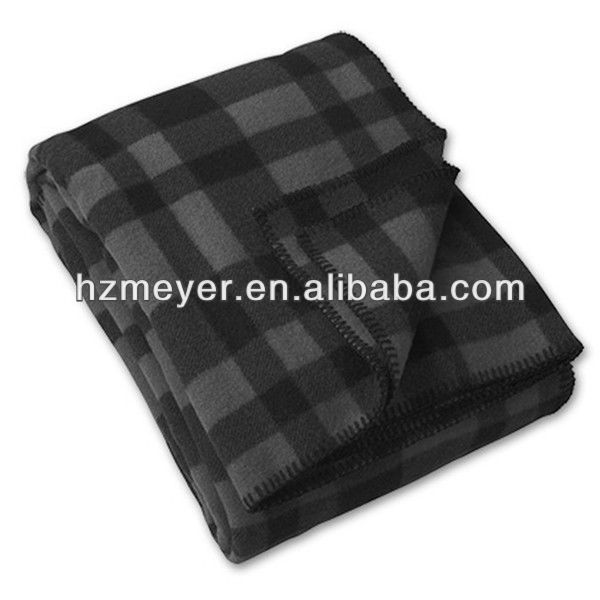 2014 Hot Sale Warm Thick Cozy Soft Wholesale Made in China 100% Polyester Luxury Bedding Set Print Polar Checked Fleece Blanket