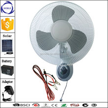AC/DC operated rechargeable oscillating 3-speed solar wall fan
