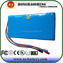 High power high quality 10S5P rechargeable li-ion battery pack 36v 11ah for E-bike