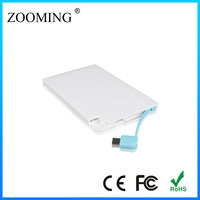 Ultrathin High Quality Portable Mobile Power For Mobile Phone Or 2500mah Power Bank