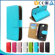 Simple Designs Wallet Style Flip Stand Leather Case for ZTE U808