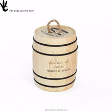 seal & moisture storage coffee bean barrel wooden carfts barrel
