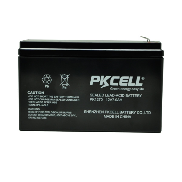 PKCELL 12V 7Ah Rechargeable Lead Acid Storage Battery For UPS