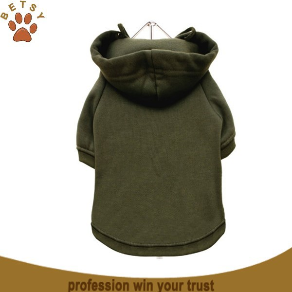 Fleece plain pet dog clothes hoodie