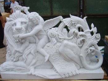 marble lion sculpture and stone lion