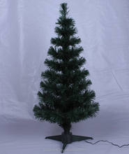 7ft black Big lots Battery fiber optic christmas trees
