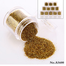 A5600 Wholesale cosmetic jar gold glitter powder in 10g pack bottle shaker