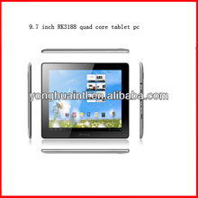 9.7 inch screen rockchip RK3188 quad core 1.8G android 4.1 cheap tablet pc