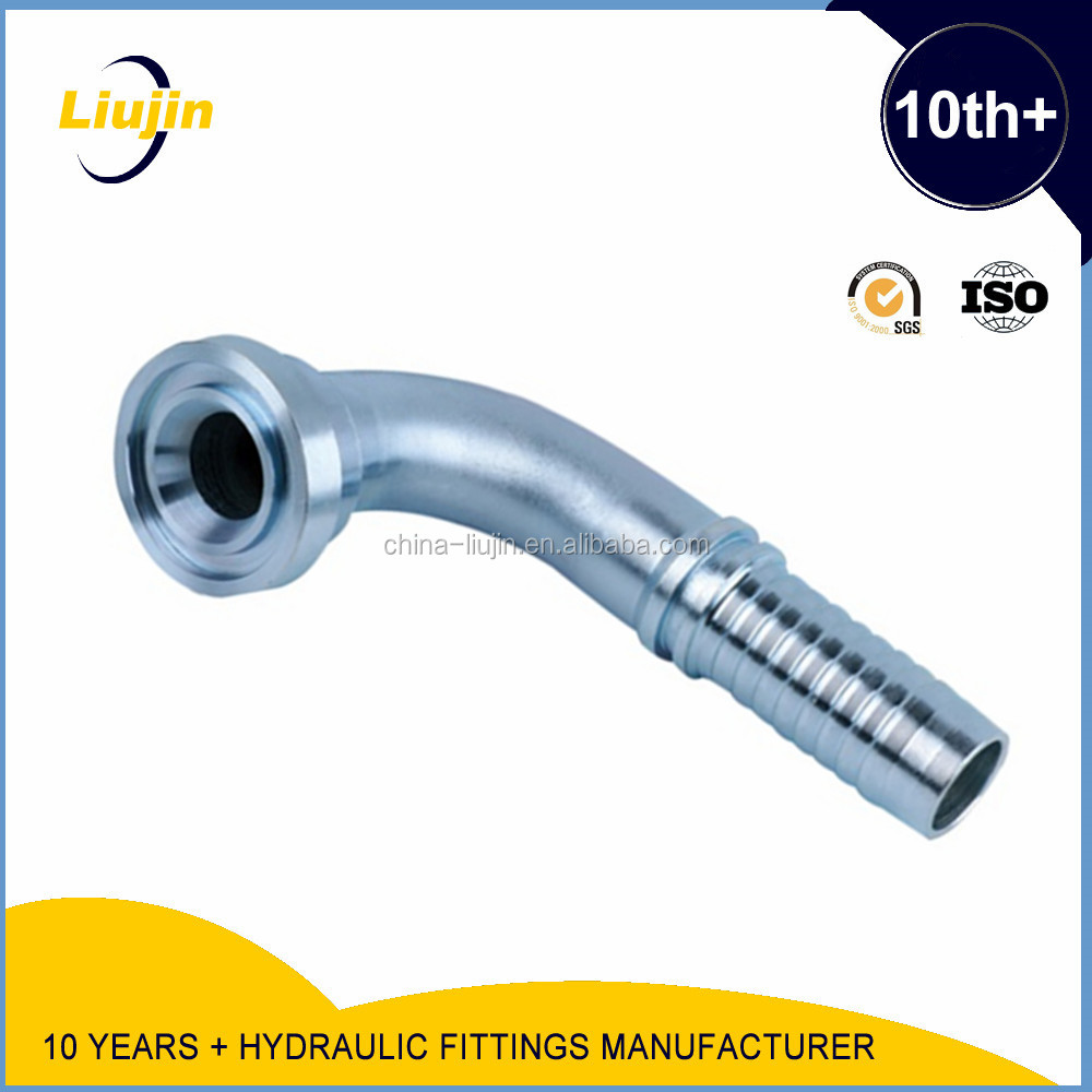 Advanced Germany machines factory supply carbon steel 45 degree sae flange 3000 psi hydraulic hose fitting made in china