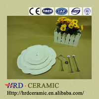 Custom flower 3pc porcelain dinner ware set/ceramic dinner set