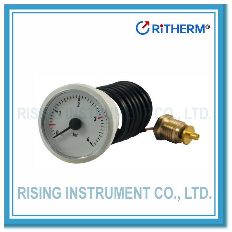 high pressure manometer capillary gauge natural gas pressure gauge