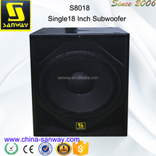 S8018 1500W Peak Power Single 18 inch Actvie Subwoofer Box Design