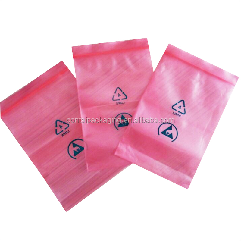 Factory custom color small red / pink / green / yellow / blue resealable ziploc bag for decorations