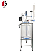 Hot Sell 10L Double Glass Reactor With Jacket And Good Price