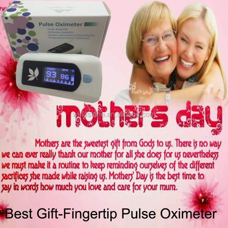 2017 LCD Display Finger Pulse Oximetet Metal Detector Perfusion Index Mother's Day Gift