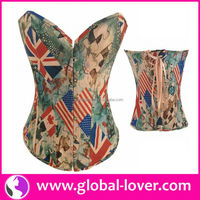 2016 hot selling cheap steel boned corsets